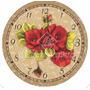 Papel Decoupage Relógio Flores Ldr-05 - Litocart