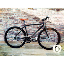 Bicicleta Fixie Retro Vintage Color Negro