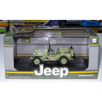 1:43 Willys Jeep Mb Militar Greenlight Us Army