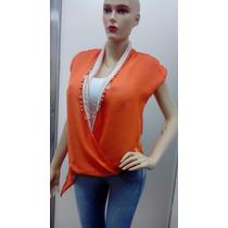 Blusas De Dama Con Collar Largo Incluido