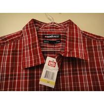 Camisa Ecko,2 Bolsos, M, Xadrez Vermelho, Original