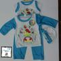 Conjunto Para Bebes Varones Mono-gorro-franela 4 Piezas!!!