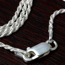 Corrente Prata Masculina 75 Cm - 1,1 Milímetro De Espessura