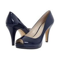 Nine West Zapatos Talla 7 Charol Color Azul