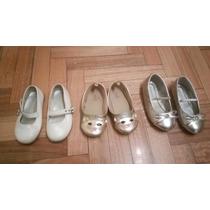 Combo Zapatos De Fiesta Niña, Casi Nuevos Y Sin Uso!