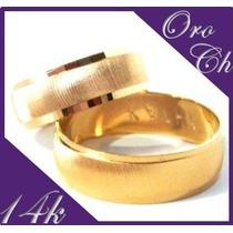 Preciosas Argollas De Matrimonio Oro 14k Chapa Envio Gratis