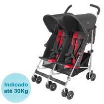 Carrinho De Bebê Para Gêmeos Twin Triumph Maclaren - Charcoa