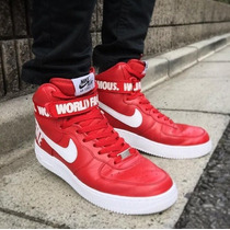 Tênis Nike Air Word Famous Supreme Low Red Super Oferta