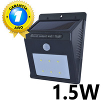 Lámpara Panel Solar 6 Leds Sensor De Movimiento Pir
