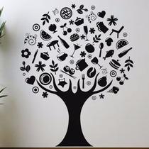 Adesivo Decorativo De Parede Arvore- Cozinha - Natureza