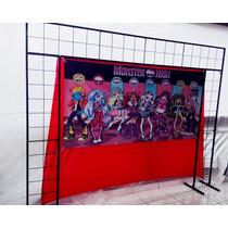 Suporte Painel De Festa E Bexigas/3 Em 1 Banner 2mts