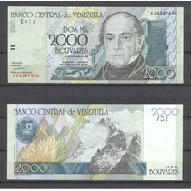 Venezuela 2000 Bolivares 1998 Pick Nº 80 Sin Circular