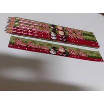 40 Lápis Lembrança Natal, Brinde Para Empresas E Escolas