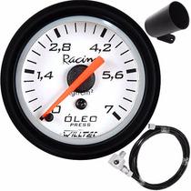 Kit Pressão Óleo Willtec Instalação Copo Motor Manômetro 52