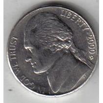 Estados Unidos Moneda De 5 Cents Año 2000 D !!!!