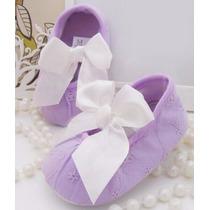 Zapatitos Zapatos Guillerminas Nena Recien Nacido Bautismo