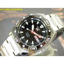 S E I K O Relógio Seiko 5 Sports Automatico Calendario Aço