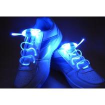 Cadarço Luminoso Azul Led Neon Para Tênis (par) Hutz