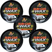 Kit 5 Ceras Cristalizadora Proteção Automotiva Wax Sun Car
