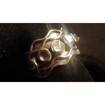 Anillo De Plata 925 Diamantes Herkimer