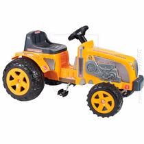 Mini Veiculo Pedal Infantil Trator Fazendeiro Amarelo Biemme