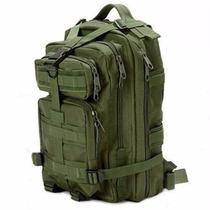 Mochila Tactica Tipo Militar Backpack Color Verde Olivo