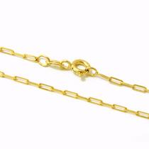 Corrente Cartier Masculina 70cm Em Prata Banhada A Ouro 24k