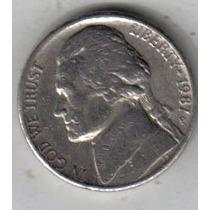 Estados Unidos Moneda De 5 Cents Año 1987 P !!!!!