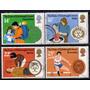 Reino Unido Serie X 4 Usados Deporte = Primeros Auxilos 1981