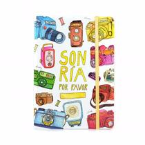 Cuaderno De Autor Sonría Por Favor Por Vik Arrieta 15x21 Cm