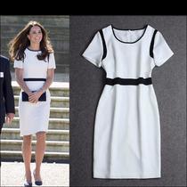 Vestido Tubinho Igual Da Princesa Kate Branco