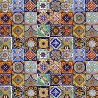 100 azulejos ceramica talavera decorados pintados a mano for Azulejo de talavera mexico