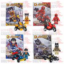 Kit 4 Herois A - Batman Super Man Deadpool Wolverine - Lego