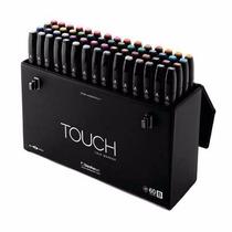 Set De 60 Marcadores Profesionales Touch Caja Plumones