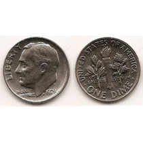 Moneda Estados Unidos De One Dime 10 Centavos Año 1979