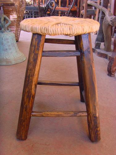 Banco artesanal para bar de madera y tule estilo antiguo for Bar de madera mercadolibre