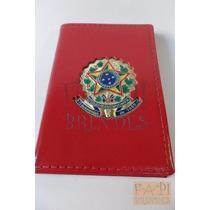 Porta Documento Cnh Funcional Mini Com Brasão República M02v