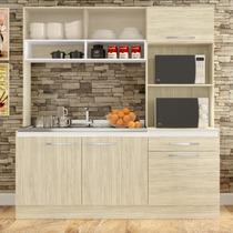 Cozinha Compacta Com Aéreo Armário Para Forno E Balcão De Pi