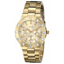 Guess Reloj Dorado Finisimo Dama U11058l1