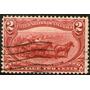 Estados Unidos Un Sello Usado Far West = Caballos Año 1898