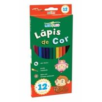 Kit 12 Caixas Lapis De Cor 12 Cores Leo Leo Atacado Escolar