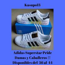 Kp3 Zapatos Adidas Superstar Pride Pack Colors 36 Al 45