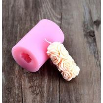 Molde De Silicon Para Hacer Vela Con Rosas Tamaño 7cms