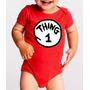 Pañalero Bebé Rojo Gemelos Diseño Thing 1 Thing 2
