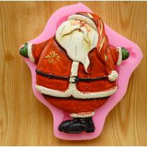 Molde De Silicon Figura De Santa Claus, Navidad