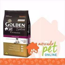 Ração Golden Gatos Adultos Castrados Frango 10,01 Kgs
