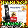 Wow Telefono Inalambrico Secutech Linia Dial-up Con Pantalla