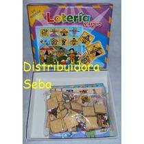 Loteria El Circo, 36 Fichas En Madera, 6 Cartones Ilustrados