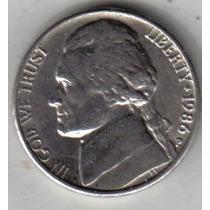 Estados Unidos Moneda De 5 Cents Año 1986 P !!