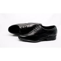 Sapato Social Masculino Em Couro Bico Quadrado Barato